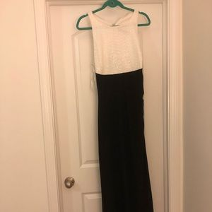 Ralph Lauren black and white evening gown